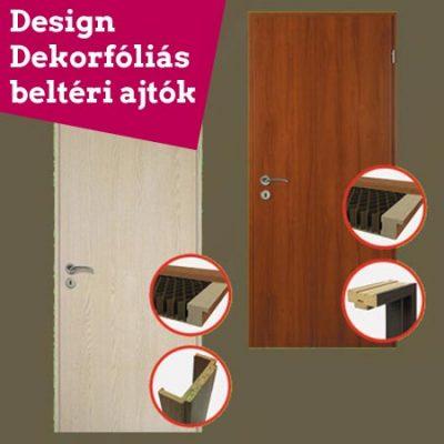 Design dekorfóliás beltéri ajtó