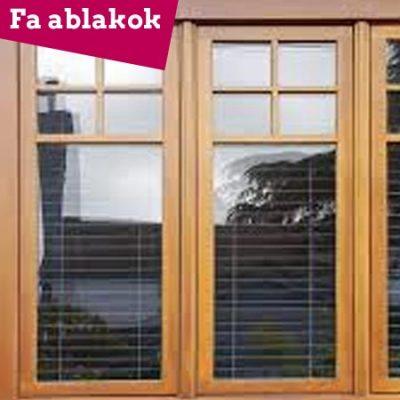 Fa ablak, erkélyajtó