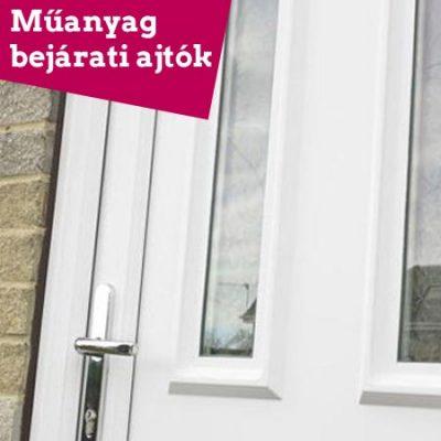 Műanyag bejárati ajtók 2 rétegű üveggel