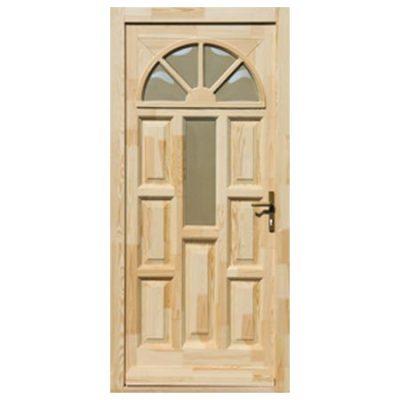 Fa bejárati ajtó – Napsugár, középen 1 üveges